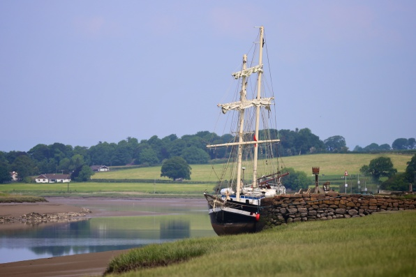 La Malone tall ship at Glencaple